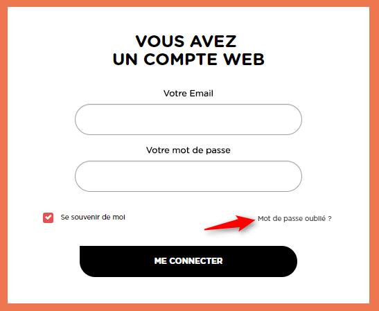 page connexion mot de passe